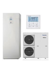 Panasonic All In One T-Cap WH-UQ16HE8/WH-ADC0916H9E8 3 fázisú, szuper csendes osztott levegő-víz hőszivattyú - 16 kW