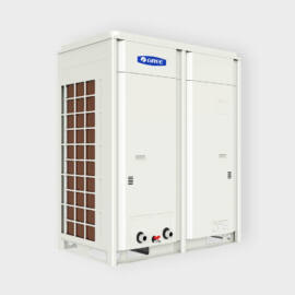 Gree inverteres kompakt léghűtéses, hőszivattyús moduláris 32 kW kültéri folyadékhűtő vezérlővel